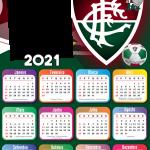 Calendário 2021 Fluminense Moldura PNG