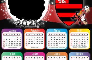 Calendário 2021 de Time de Futebol para Montagem de Foto