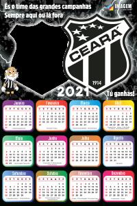 Moldura Calendário 2021 Ceará