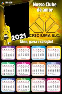 Moldura Calendário 2021 Criciúma