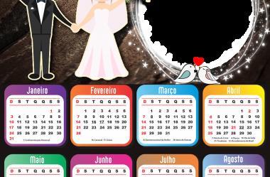 Calendário 2021 Moldura PNG de Vários Temas