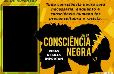 Moldura Dia da Consciência Negra em PNG para Montagem de Foto