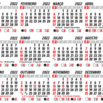 Grade Calendário 2022 PNG Padrão para Imprimir