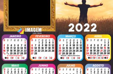 Calendários 2022 Tema Religioso em PNG para Foto Montagem